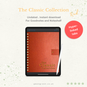 Classic Collection Planner - Red cover