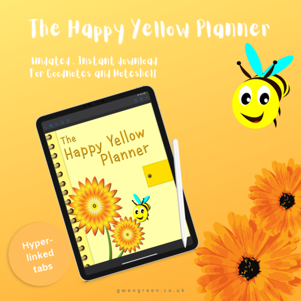 Happy Yellow Planner cover